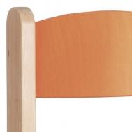 pastelová oranžová opěradlo