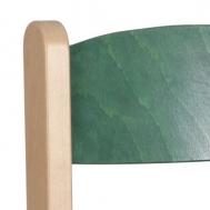 pastelová zelená opěradlo