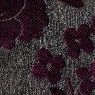 Látka s dekorem AKR 95 šedá-fialová