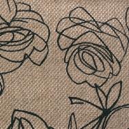 Látky s květy růží RIM04 křemičitá