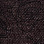 Látky s květy růží RIM12 tmavý ořech
