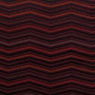 Látka s cik cak vzorem LINN 09 vínová šedá