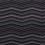 Látka s cik cak vzorem LINN 15 šedá-tyrkysová