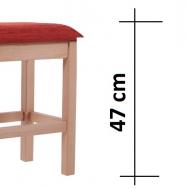 výška sedáku 47 cm