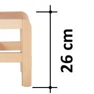 výška sedáku 26 cm