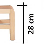 výška sedáku 28 cm