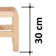 výška sedáku 30 cm