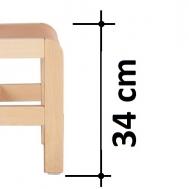 výška sedáku 34 cm