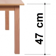 výška stolu 47 cm