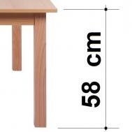 výška stolu 58 cm