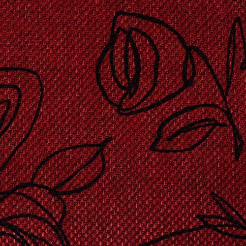 Látky s květy růží RIM22 červená marsala