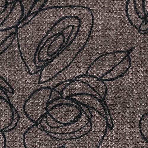 Látky s květy růží RIM11 cinová