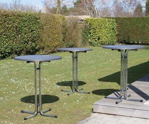 Barové kovové sklapovací stoly