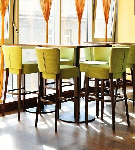 Dřevěné čalouněná barovka tanja bar
