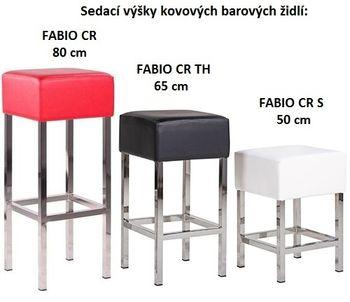 Sedací výšky u barových židlí FABIO CR