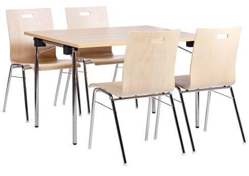 Kovové sklapovací stoly a kovové židle