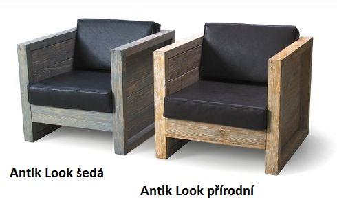 Křesla zahradní z použitého stavebního dřeva