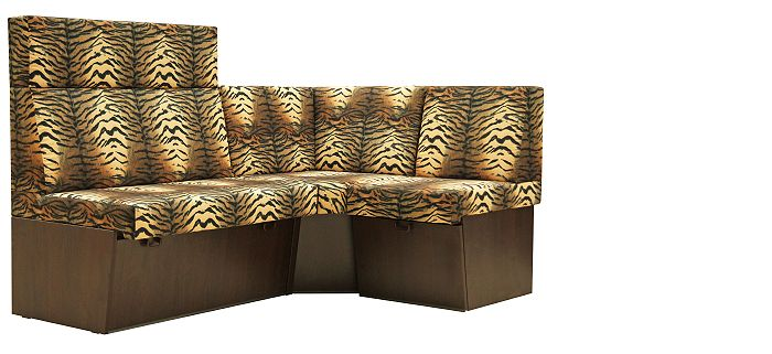 Restaurační lavice TRENTO se safari designem