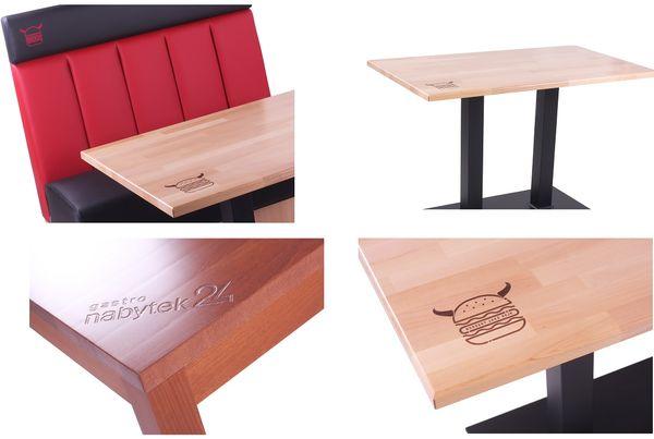 Laserování loga do desky stolu