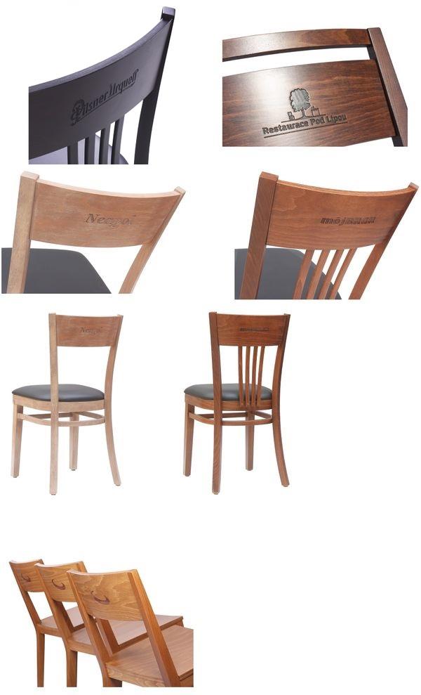 Logo na opěradle židle