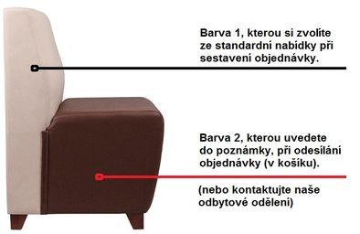 Atypické rozměry a barvy sedací lavice LUKA IE