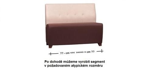 Atypické rozměry a barvy sedací lavice