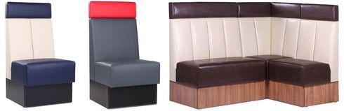 Čalouněné restaurační lavice OLBIA v barevném provedení