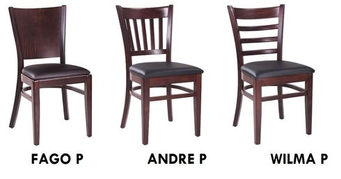 Dřevěné restaurační židle řady DUBLINO