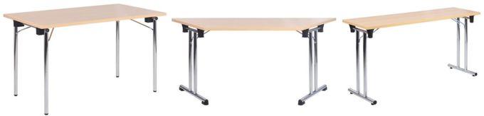 Skládací stoly kovové různé barvy