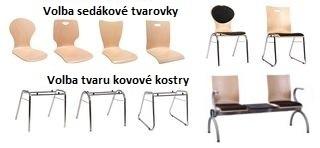 Kovové stoličky a lavice COMBISIT