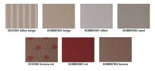 Poťahové látky určené pre farebné kombinácie