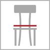 Celková šířka židle