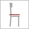 Celková hloubka židle