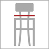 Celková šířka barové židle 4n