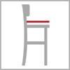 Hloubka sedáku barové židle