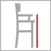 Výška područek barové židle