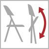 Možnost sklopení stoličky