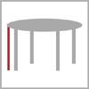 Celková výška stolu kulatý