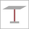 Výška stolové podnože