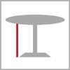 Celková výška bistro stolu 1