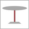 Výška stolové podnože1