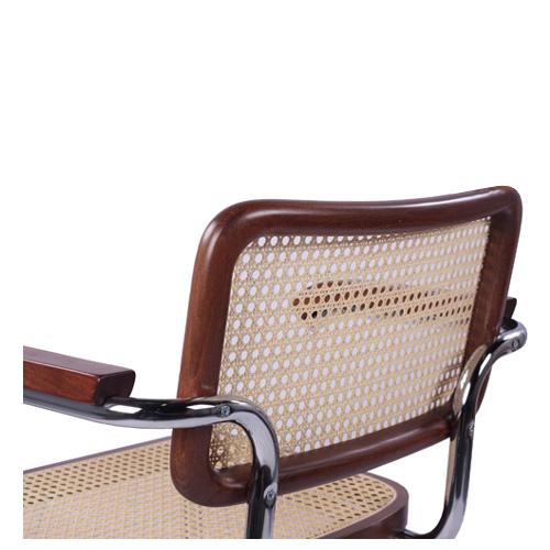 Houpací kovová židle s výpletem