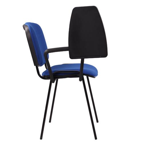 Kovové čalouněné židle s poručkou a podložkou