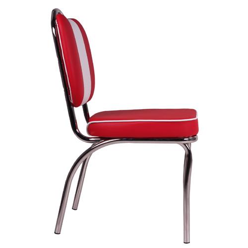 Čalúnené kovové stoličky