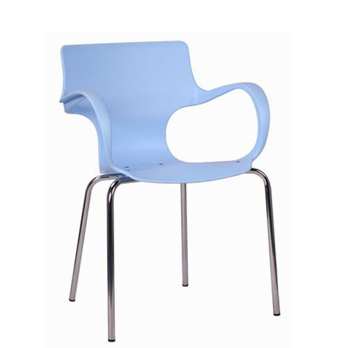 Kovová židle s plastovým sedákem
