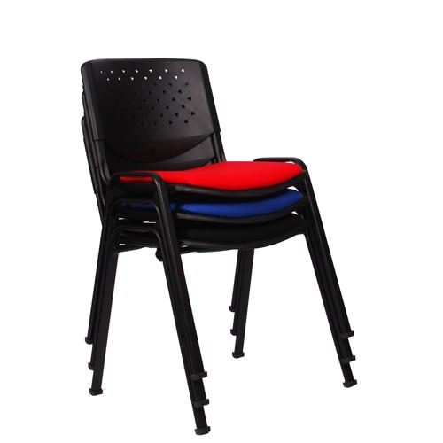 Kovové židle čalouněné stovací