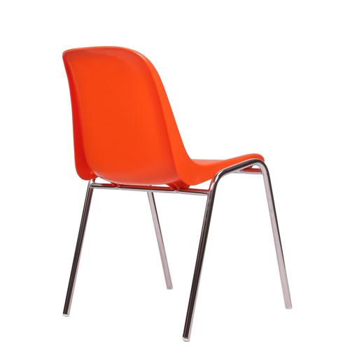 Kovové židle s plastovým sedákem