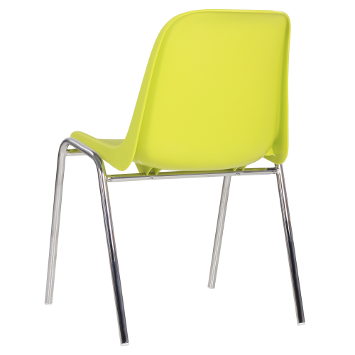 Kovové stoličky s plastovým sedákom