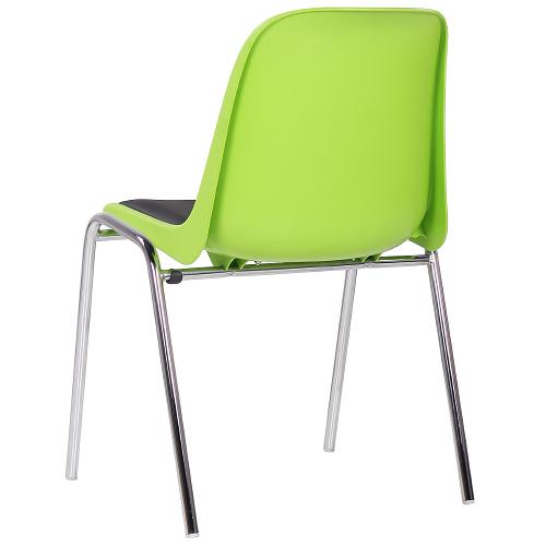 Plastové stoličky s čalúnením