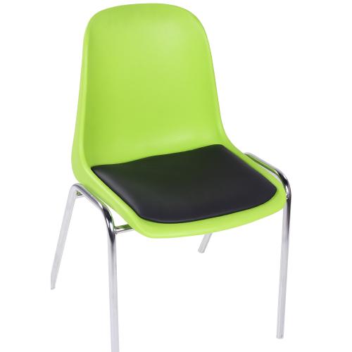 Plastové stoličky s čalouněním